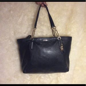 Coach leather black tote